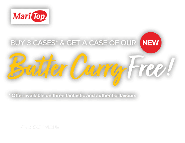 MariTop Butter Curry Sauce promotion banner